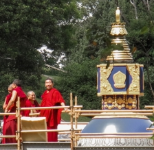 Monks at the Stupa